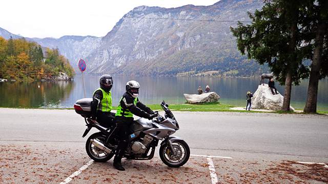 A motorbike trip to Bled
